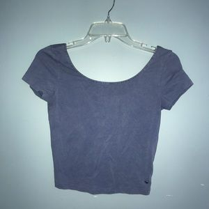 American Eagle Cotton Stretch Low Back Crop Top